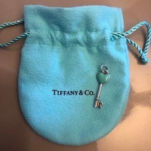 Tiffany & Co Heart Key Pendant Turquoise